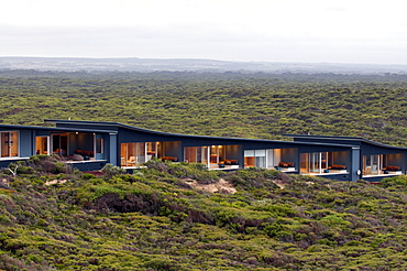 The Southern Ocean Lodges rooms amidst the bush at daytime, Kangaroo Island, South Australia, Australia