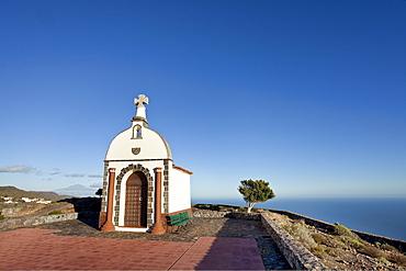 The chapel Ermita San Isodor under blue sky, Alajero, La Gomera, Canary Islands, Spain, Europe