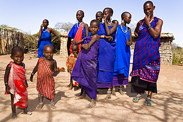 Two Maasai children, Coast, Kenya