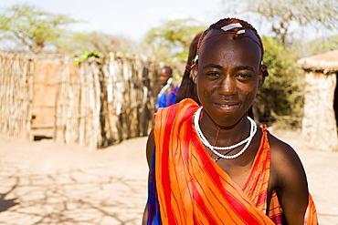Portrait of a Maasai warrior, Coast, Kenya