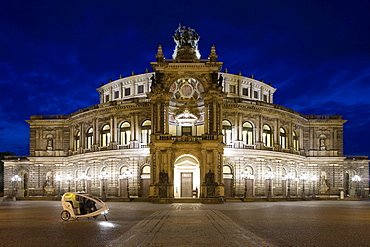 Semperoper at night, Dresden, Saxony, Germany