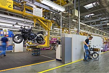 Motorcycle production line BMW Spandau Berlin, Germany