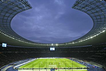 German Bundesliga Game at the Olympia Stadium, Berlin, Germany, Europe