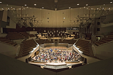 An orchestra rehearsing at the Berlin Philharmonics, Berlin Germany, Europe
