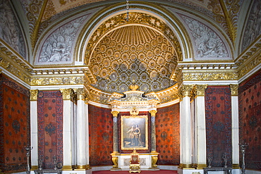 Peter the Great room, or small throne room, in the Hermitage in the Winter Palace, Saint Petersburg, Russia