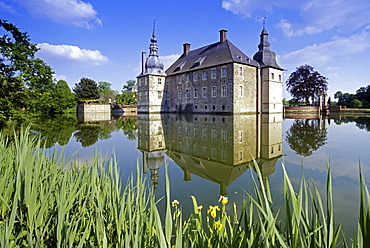 Lembeck castle, near Dorsten, Munsterland, North Rhine-Westphalia, Germany