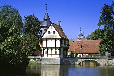 Steinfurt castle, Steinfurt, Munsterland, North Rhine-Westphalia, Germany