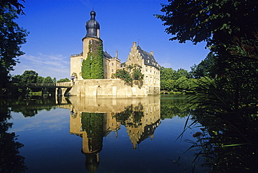 Gemen castle, Borken, Munsterland, North-Rhine Westphalia, Germany
