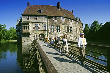 Vischering castle, Luedighausen, Muensterland, North Rhine-Westphalia, Germany