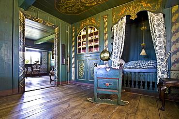 Bedroom, Old Frisian House, Keitum, Sylt Island, Schleswig-Holstein, Germany