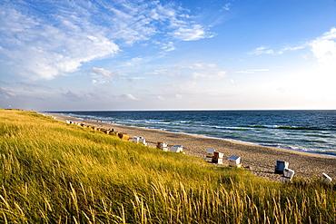 View over beach near Rantum, Sylt Island, Schleswig-Holstein, Germany