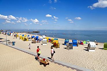 Promenade, Wyk, Foehr island, North Frisian Islands, Schleswig-Holstein, Germany