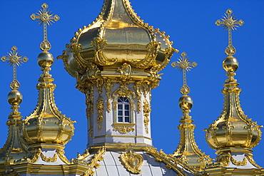 East chapel in the park of Peterhof Palace, St. Petersburg, Russia