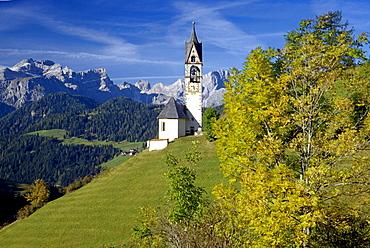 Santa Barbara, near Wengen/La Val, Val Badia, Dolomite Alps, South Tyrol, Italy