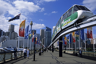 Darling Harbour Monorail, Sydney, New South Wales, Australia