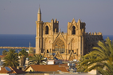 The Lala Mustafa Pasa Camii Mosque, originally known as the Saint Nicolas Cathedral and later as the Ayasofya, Saint Sophia, Mosque of Magusa, Famagusta, Gazimagusa, North Cyprus, Cyprus