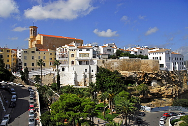 Baixamar, Ses Voltes with Can Mir and Santa Maria, Mao, Port Mahon, Minorca, Balearic Islands, Spain