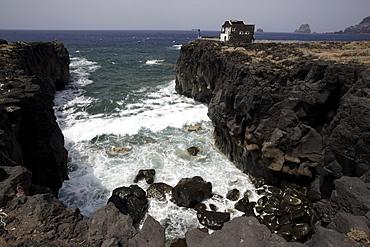 Coastal landscape Las Puntas, El Golfo, El Hierro, Canary Islands, Spain