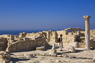 Ruins of an early Christian Basilica, ancient city of Kourion, Kourion, South Cyprus, Cyprus