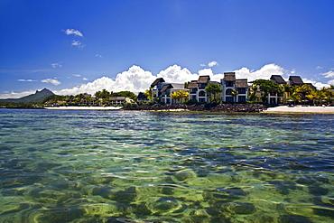 Villas waterfront of five star Hotel Le Touessrok in Trou d Eau Douce, Mauritius, Africa
