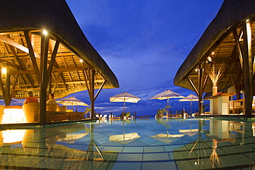 Pool and Hotel Bar of Veranda Hotel Resort and Spa at Troux aux Biches, Mauritius, Africa