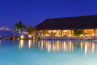 Pool and Hotel Bar of Veranda Hotel Resort and Spa at Trou aux Biches, Mauritius, Africa
