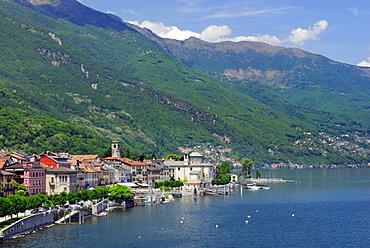 Cannobio at lake Maggiore, Cannobio, lake Maggiore, Lago Maggiore, Piemont, Italy