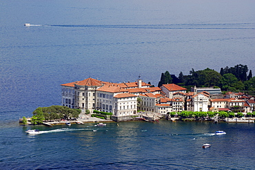 Palace on Isola Bella at lake Maggiore, Borromee isles, Isole Borromee, lake Maggiore, Lago Maggiore, Piemont, Italy