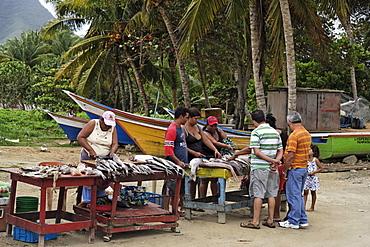 Fish market, La Asuncion, Isla Margarita, Nueva Esparta, Venezuela
