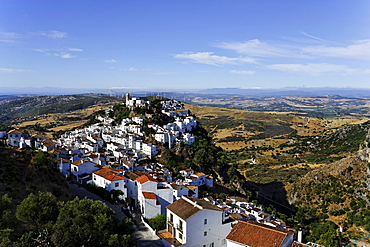 Aerial shot of Casares, Andalusia, Spain