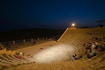 Kourion Theater at night, Greco Roman Theater, Kourion, Cyprus