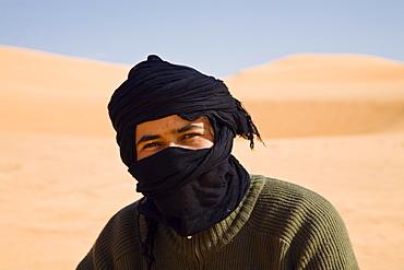 tuareg in desert, Libya, Africa