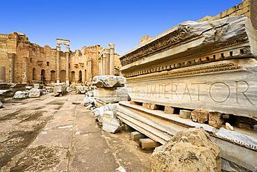 Severan Basilica, Archaeological Site of Leptis Magna, Libya, Africa