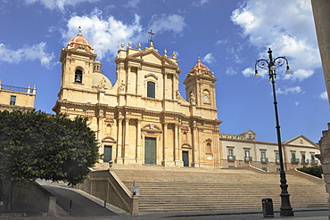 Baroque cathedral Madre San NicolÚ in Noto, Unesco World Heritage, Province Syrakus, Sicily, Italy, Europe