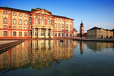 Palace and church, Bruchsal, Black Forest, Baden-Wuerttemberg, Germany