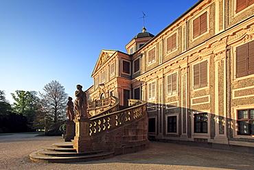 Stairway to Favorite palace, near Rastatt, Black Forest, Baden-Wuerttemberg, Germany