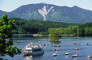 View of Lake Staffelsee, Upper Bavaria, Bavaria, Germany