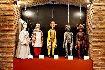 Puppet museum, Ortigia, Syracuse, Sicily, Italy
