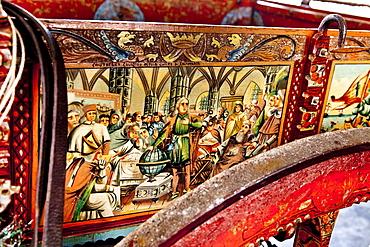 Traditioneal horse drawn cart, Castel Donnafugata, Sicily, Italy
