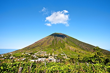 Vulcano Monte dei Porri, Salina Island, Aeolian islands, Sicily, Italy