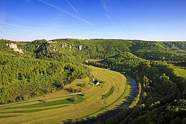 Danube valley near Beuron, Upper Danube nature park, Danube river, Baden-Wuerttemberg, Germany