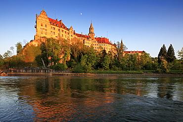 Sigmaringen castle, Upper Danube nature park, Danube river, Baden-Wuerttemberg, Germany