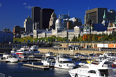 Boats in the old port, Montreal, Quebec, Canada