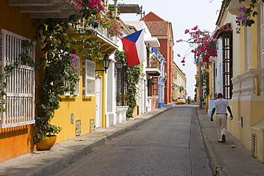 Old Town street, Cartagena, Bolivar, Colombia