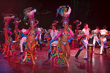 Colorful dance and music show at Tropicana Cabaret Club, Havana, Cuba
