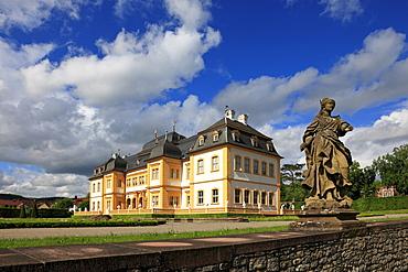 Veitshoechheim castle, Main river, Franconia, Bavaria, Germany