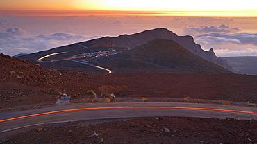 Sunrise on the Haleakala volcano, Maui, Hawaii, USA, America