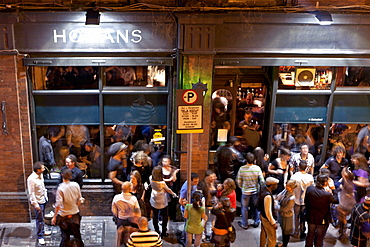 Passers-by and visitors in front of the Hogans Bar, South Great Georges Street, Dublin, County Dublin, Ireland