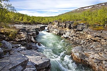 Abisko river canyon, Abisko National Park, Lapland, northern Sweden, Sweden