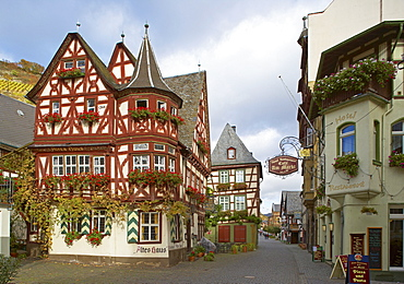 Old Town at Bacharach, Cultural Heritage of the World: Oberes Mittelrheintal (since 2002), Mittelrhein, Rhineland-Palatinate, Germany, Europe